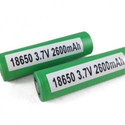 Sony VCT-5 2600mAh Flat Top Battery 18650